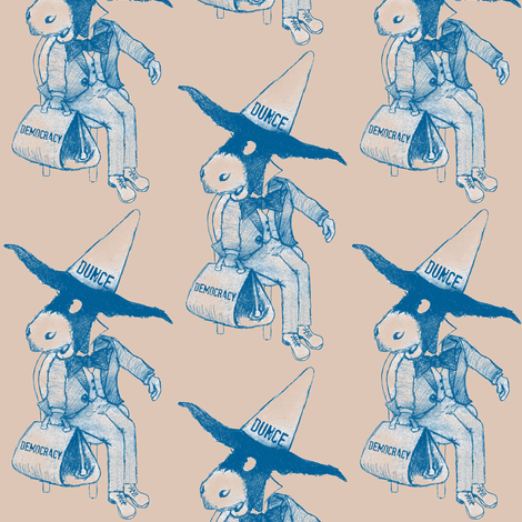 Donkey Dunce fabric by paragonstudios on Spoonflower - custom fabric