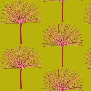 pink pouf-green