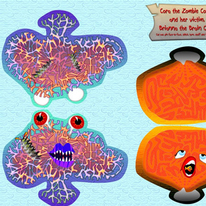 Cora the Zombie Coral and her victim Brianna the Brain Coral