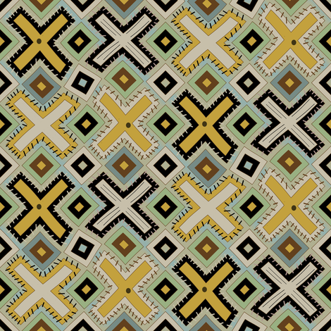 Kenya Patchwork fabric by david_kent_collections on Spoonflower - custom fabric