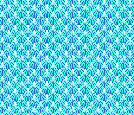 fanout cool ice fabric by glimmericks on Spoonflower - custom fabric