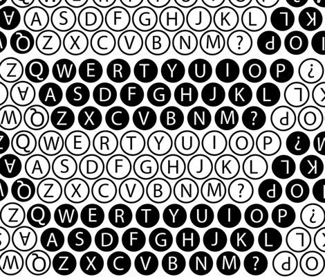 Typewritter Keys fabric by hmooreart on Spoonflower - custom fabric