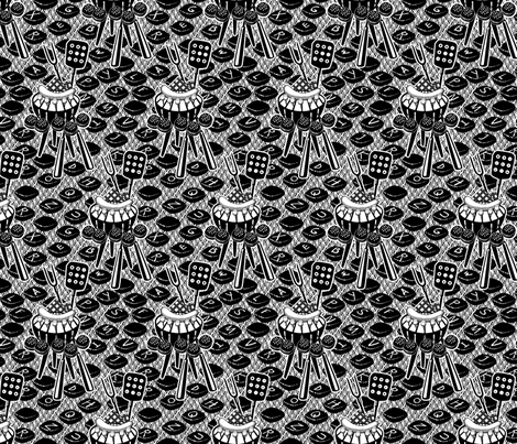 Grill-Writer fabric by glimmericks on Spoonflower - custom fabric