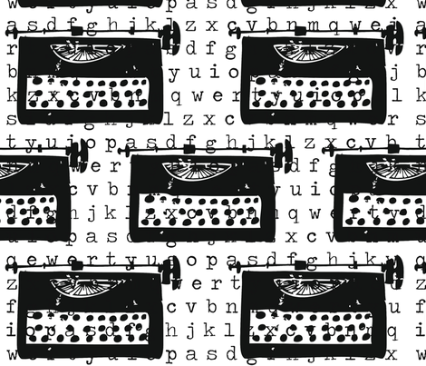 typewriter fabric by missaroda on Spoonflower - custom fabric