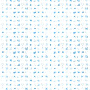 blue dots and checks