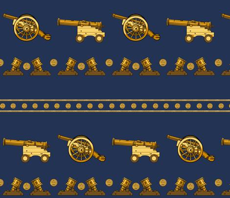 Canon Line Up- Gold Large fabric by ninniku on Spoonflower - custom fabric