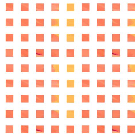 peach wash checks fabric by mojiarts on Spoonflower - custom fabric