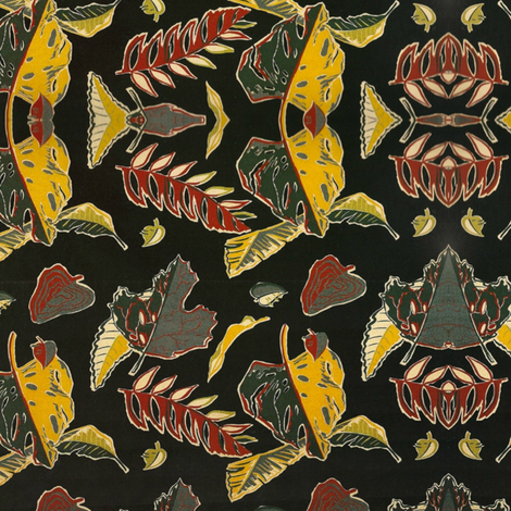 Retro Autumn Leaves fabric by whimzwhirled on Spoonflower - custom fabric