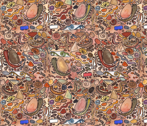 What Lies Beneath fabric by wiccked on Spoonflower - custom fabric