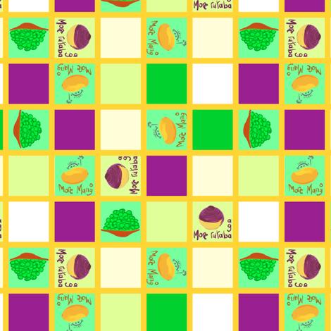 mango checker board fabric by mojiarts on Spoonflower - custom fabric