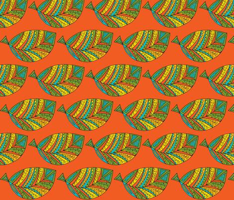 bahia leaf-orange fabric by dnbmama on Spoonflower - custom fabric