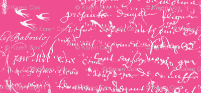 French Script Bold, Shocking Pink