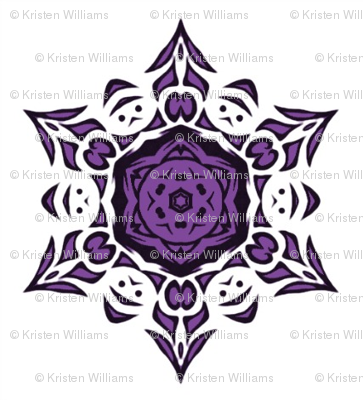 tribal snowflake (purple)