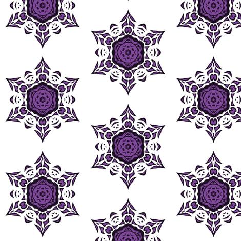 tribal snowflake (purple) fabric by ladyleigh on Spoonflower - custom fabric