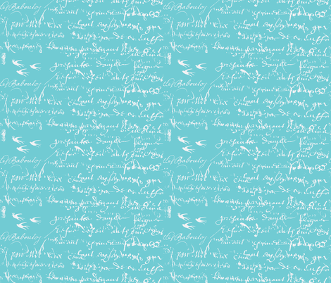 French Script Bold,  fabric by karenharveycox on Spoonflower - custom fabric