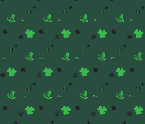st patrick's day fabric by isabella_asratyan on Spoonflower - custom fabric