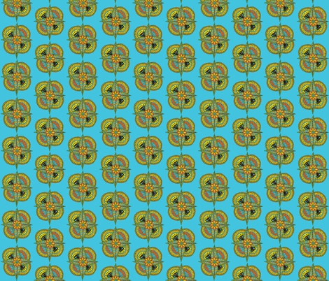 pointy flower blue-bahia fabric by dnbmama on Spoonflower - custom fabric