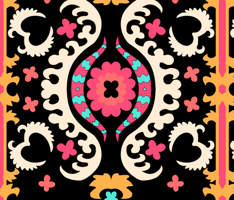 blacksuzani fabric by femmenouveau on Spoonflower - custom fabric