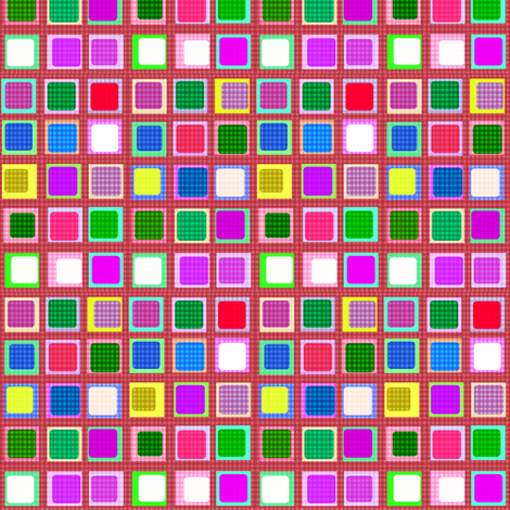 Gingham Hollywood Squares fabric by boris_thumbkin on Spoonflower - custom fabric