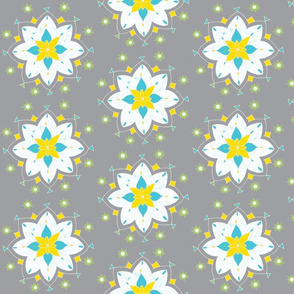 gray white star flower blue