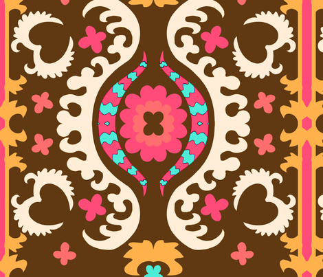 brownsuzani fabric by femmenouveau on Spoonflower - custom fabric