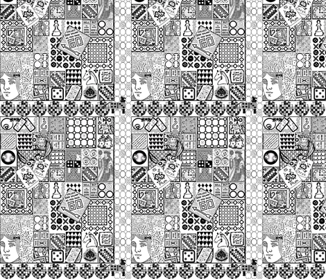 The Games People Play fabric by linsart on Spoonflower - custom fabric