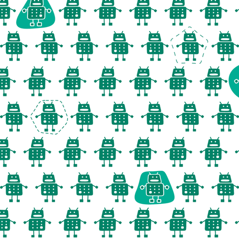 robots_5 fabric by two_little_flowers on Spoonflower - custom fabric
