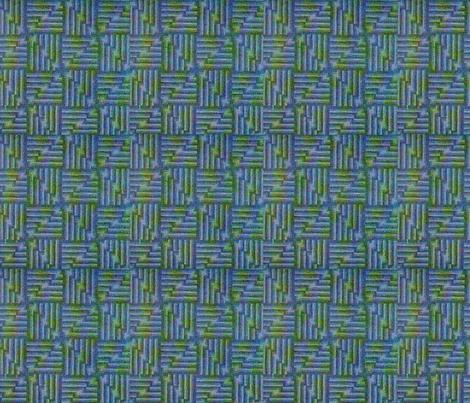 Vintage Blue Green fabric by tulsa_gal on Spoonflower - custom fabric