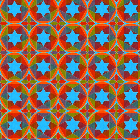 geometry of color fabric by glimmericks on Spoonflower - custom fabric