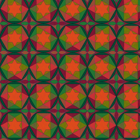 geometry  of color 4 fabric by glimmericks on Spoonflower - custom fabric