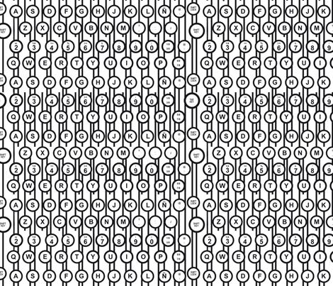 Teclas fabric by valmo on Spoonflower - custom fabric