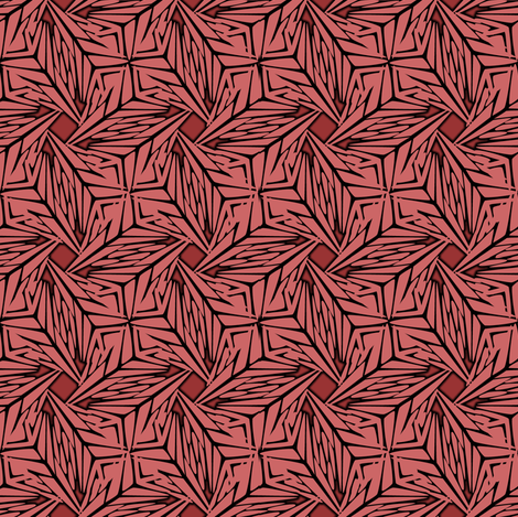 palm leaves - flamingo fabric by glimmericks on Spoonflower - custom fabric