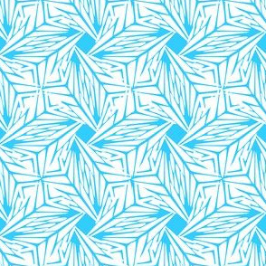 palm leaves - ice crystals