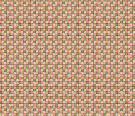Vintage Pink & Green fabric by tulsa_gal on Spoonflower - custom fabric