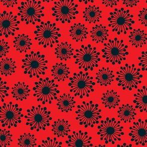 Seedpod in red
