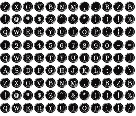 Typewriter Overnighter fabric by bzbdesigner on Spoonflower - custom fabric