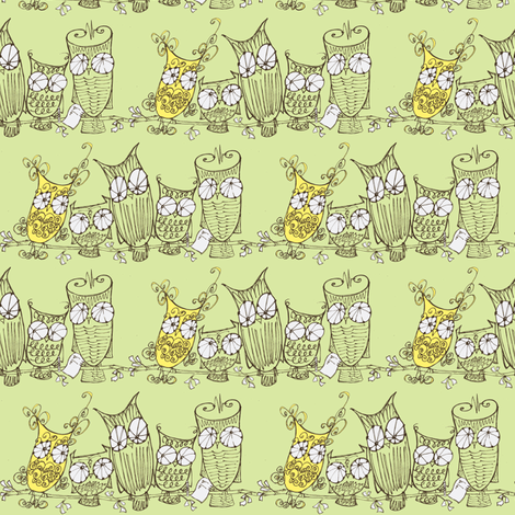 The Committee_black/ltgrn/lemon fabric by cheeseandchutney on Spoonflower - custom fabric