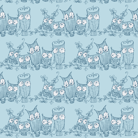 The Committee_blue/blue  fabric by cheeseandchutney on Spoonflower - custom fabric