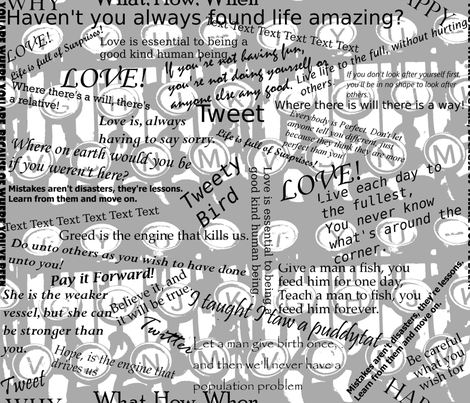 Words words words they can make you or break you. fabric by house_of_heasman on Spoonflower - custom fabric
