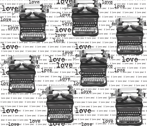 I LOVE YOUR TYPE fabric by bzbdesigner on Spoonflower - custom fabric