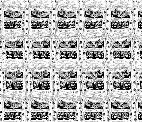 writer`s block  typewriter fabric by susiprint on Spoonflower - custom fabric