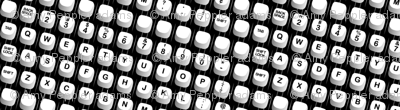 Hunt & Peck || electric typewriter keys analog vintage halftone screen black and white dots