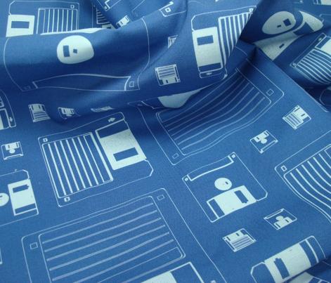 Disk pattern blue
