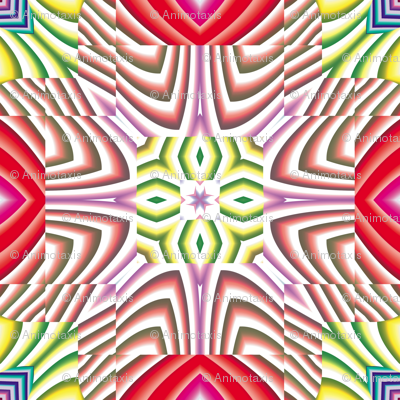 Flowery Incan Tiles 14