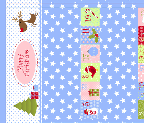 Christmas Calendar for Girls (Cut and Sew Pattern) fabric by ciconia on Spoonflower - custom fabric