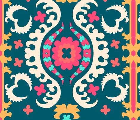peacocksuzani fabric by femmenouveau on Spoonflower - custom fabric