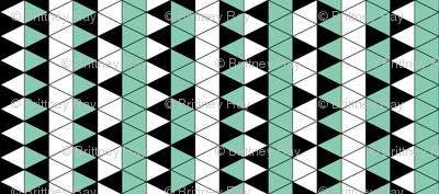 Triangle Check Mint Stripe