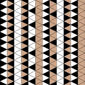 Triangle Check Mocha Stripe