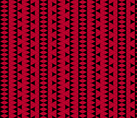 Triangle Check Red fabric by pond_ripple on Spoonflower - custom fabric