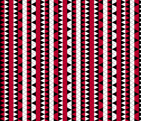 Triangle Check Red Stripe fabric by pond_ripple on Spoonflower - custom fabric